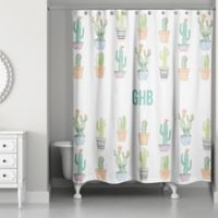 Designs Direct Cacti Buddies Shower Curtain in Green