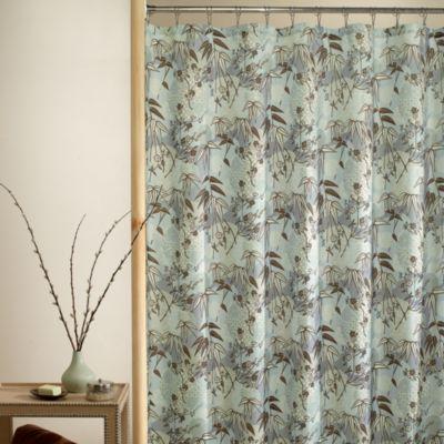 Buy Blue Brown Shower Curtain Fabric From Bed Bath  Beyond - Blue and brown shower curtain fabric