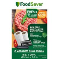 FoodSaver® 8-Inch 2-Pack Vacuum Packaging Rolls