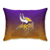 NFL Minnesota Vikings Plush Dot Standard Bed Pillow