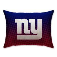 NFL New York Giants Plush Dot Standard Bed Pillow