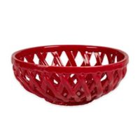 Table Tops Gallery® Basket Serving Bowl in Red