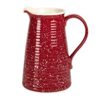 Tabletops Gallery Speckled Pitcher in Red