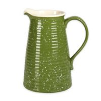 Tabletops Gallery Speckled Pitcher in Green