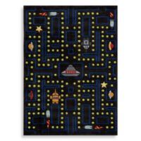 Momeni 'Lil Mo Whimsy LMJ-14 Arcade 5-Foot x 7-Foot Area Rug in Black