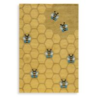 Momeni 'Lil Mo Whimsy LMJ-15 5-Foot x 7-Foot Area Rug in Honeycomb Gold