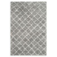 Safavieh Kenya Faded Diamond 6' x 9' Hand-Knotted Area Rug in Grey
