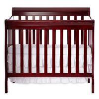 Dream On Me Aden 4-in-1 Convertible Mini Crib in Cherry