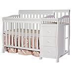 Dream On Me Jayden 4-in-1 Convertible Crib and Changer in White