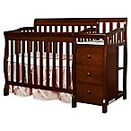 Dream On Me Jayden 4-in-1 Convertible Crib and Changer in Espresso