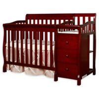 Dream On Me Jayden 4-in-1 Mini Convertible Crib and Changer in Cherry