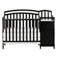 Dream On Me Casco 4-in-1 Mini Crib and Changer in Black
