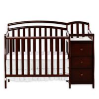 Dream On Me Casco 4-in-1 Mini Crib and Changer in Espresso