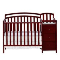 Dream On Me Casco 4-in-1 Mini Crib and Changer in Cherry