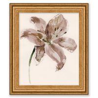 Neutral Flower 13-Inch x 15-Inch Framed Wall Art