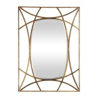 Uttermost Abreona 43-Inch x 31-Inch Rectangular Wall Mirror in Metallic Gold