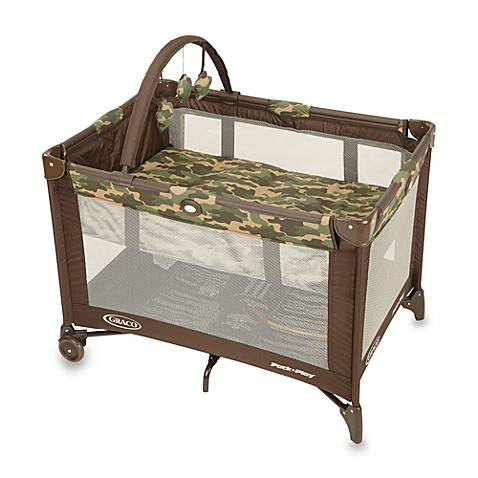 Graco 174 Pack N Play 174 Playard With Automatic Folding Feet Camo Joe Buybuy Baby