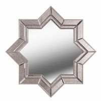 Kenroy Home Polaris 35-Inch x 35-Inch Star Mirror in Stepped Antique and Champagne