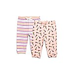 Rosie Pope® Size 0-3M 2-Pack Crown Wands Pants