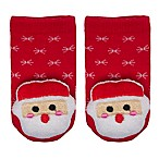 Cuddl Duds® Size 0-6M Santa Rattle Socks in Red