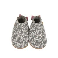 Robeez® Size 0-6M Berry Beautiful Casual Shoe in Grey