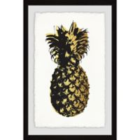 Marmont Hill Collective Amanda Greenwood 18-Inch x 12-Inch Pineapple Golden Framed Wall Art