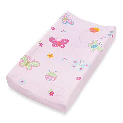 Summer Infant® Plush Pals Changing Pad Cover in Butterfly Ladybug