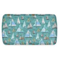 """GelPro® Elite 20"""" x 36"""" Sailboats Comfort Floor Mat in Blue Cove"""