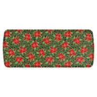 "GelPro Elite Comfort 20"" x 48"" Poinsettias Kitchen Mat in Red/Deep Forest"