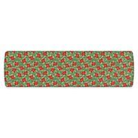 """GelPro Elite Comfort 30"""" x 108"""" Poinsettias Kitchen Mat in Red/Silver"""