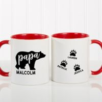 Papa Bear 11 oz. Coffee Mug in Red