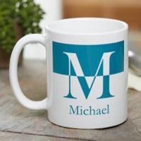 Initials 11 oz. Coffee Mug in White