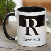 Initials 11 oz. Coffee Mug in Black