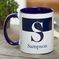 Initials 11 oz. Coffee Mug in Blue