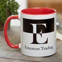 Initials 11 oz. Coffee Mug in Red
