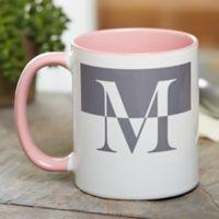 Initials 11 oz. Coffee Mug in Pink
