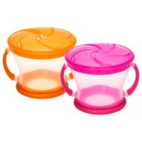 Munchkin® Snack Catcher® 9 oz. Snack Containers in Pink/Orange (Set of 2)