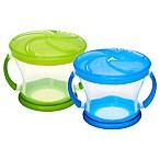 Munchkin® Snack Catcher® 9 oz. Snack Containers in Blue/Green (Set of 2)