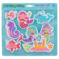 Stephen Joseph® 10-Piece Mermaid-Theme Foam Bath Toy Set