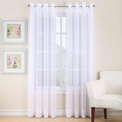 Amazing Voile 108 Inch Sheer Grommet Window Curtain Panel In White