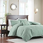 Madison Park Quebec Convertible King/California King Coverlet-to-Duvet Cover Set in Seafoam