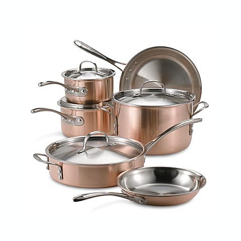 Buy Calphalon Tri Ply Copper 10 Piece Cookware Set From Bed Bath Beyond
