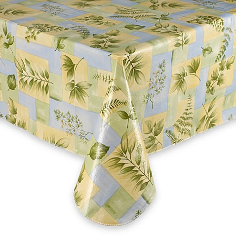 Leaf Melody Vinyl Tablecloth Bed Bath Amp Beyond