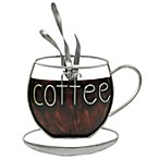 Coffee Cup Metal Plaque
