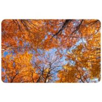 "FoFlor Looking Autumn Leaves 25"" x 60"" Kitchen Mat in Orange"