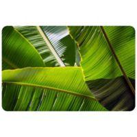 "FoFlor Banana Leaves 25"" x 60"" Kitchen Mat in Green"