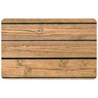 """FoFlor Warm Wood 25"""" x 60"""" Kitchen Mat in Medium Brown"""