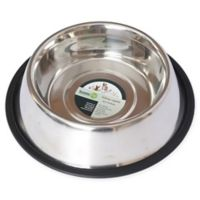 Iconic Pet Metallic Non-Skid 2-Cup Pet Bowls in Stainless Steel (Set of 2)