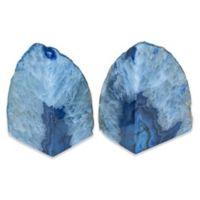 Agate Bookends in Blue