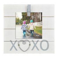 XOXO Sentiment 4-Inch x 6-Inch Clip Photo Frame